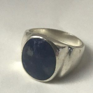 Jewelry - Men's sterling and blue Lapis stone ring